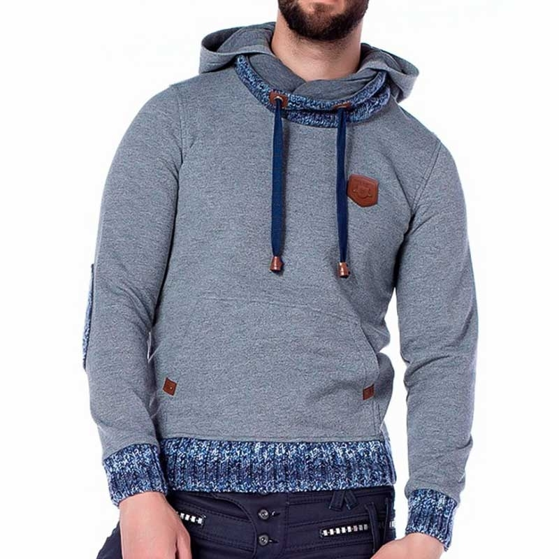 CIPO and BAXX HOODIE comfort WINTER TOBY Kapuze CL210 Kaltes Wetter Wear grey