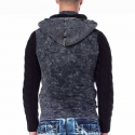 CIPO and BAXX SWEATJACKE CL216 Used Look Denim