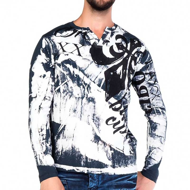 CIPO and BAXX SWEATSHIRT CL193 with bleached look