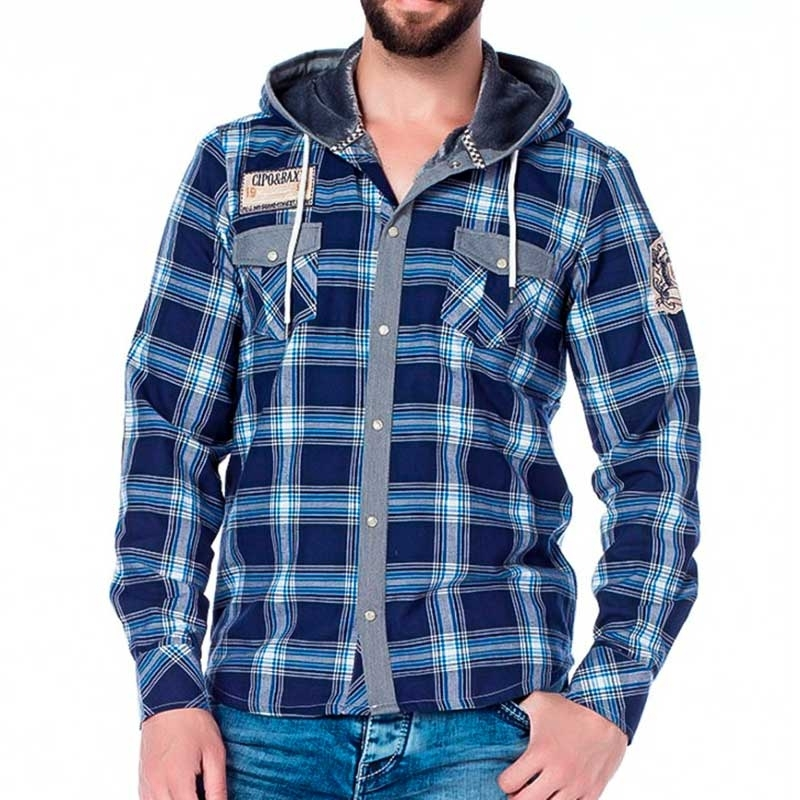 CIPO and BAXX SWEATJACKE comfort LUMBERMAN JACK Wald CH128 Draussen Wear blue
