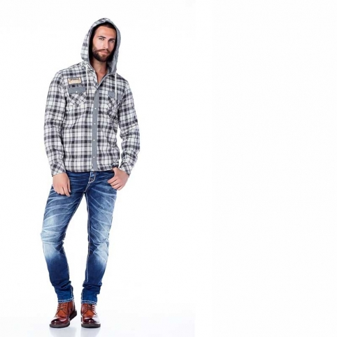 CIPO and BAXX SWEATJACKET CH128 with checkered pattern