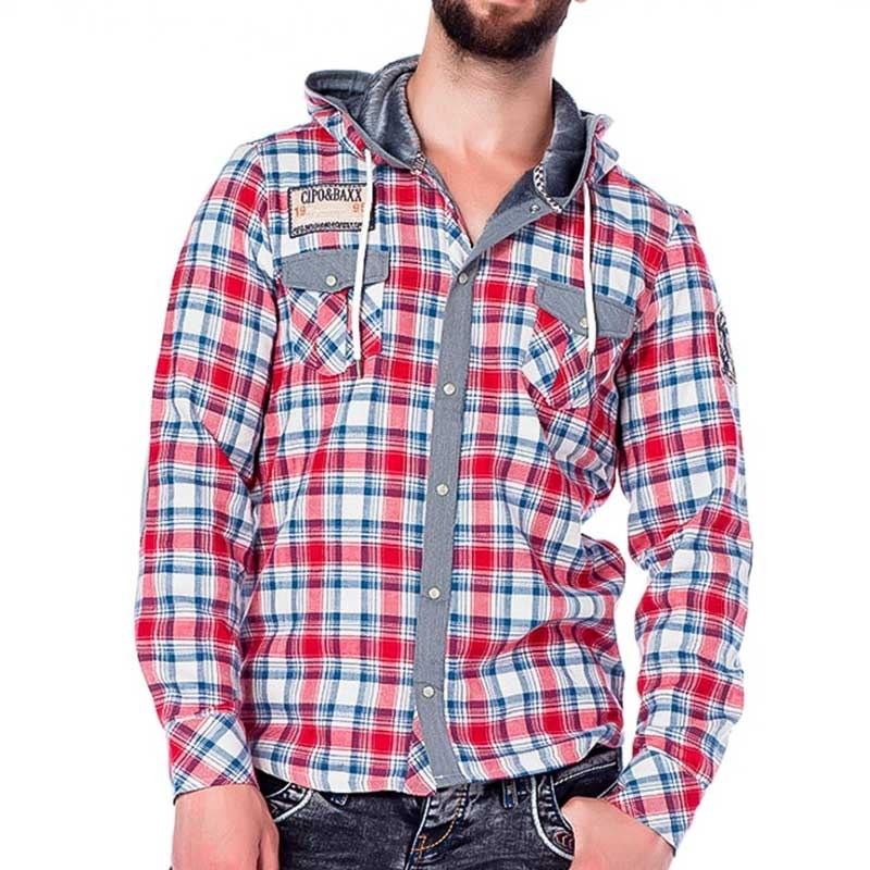 CIPO and BAXX SWEATJACKE comfort LUMBERMAN JACK Feuer CH128 Draussen Wear red