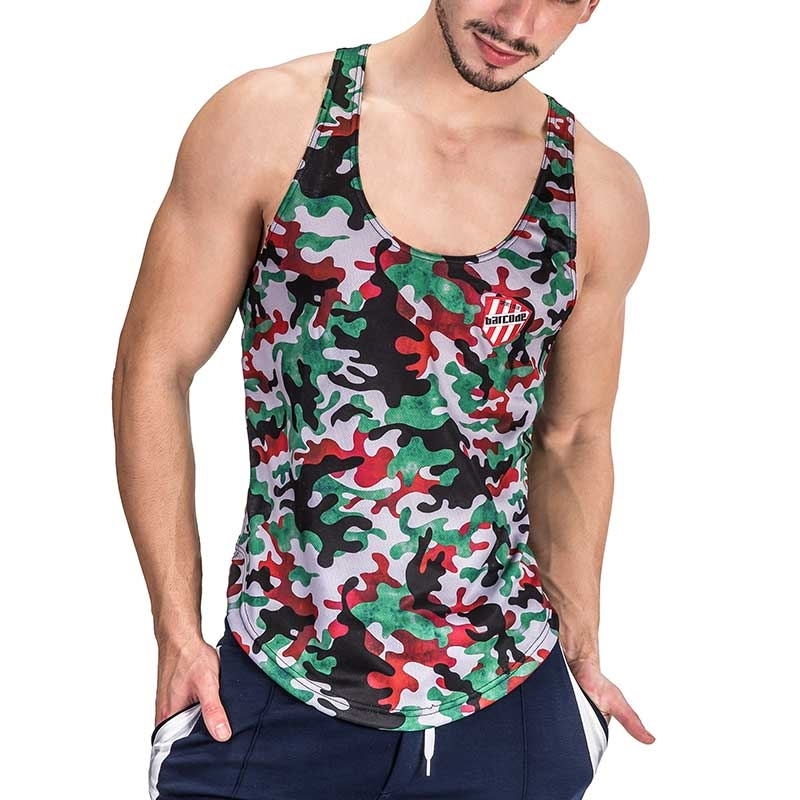 BARCODE Berlin TANK Top bad BOOT CAMP 51 gym 91336 camouflage multigreen
