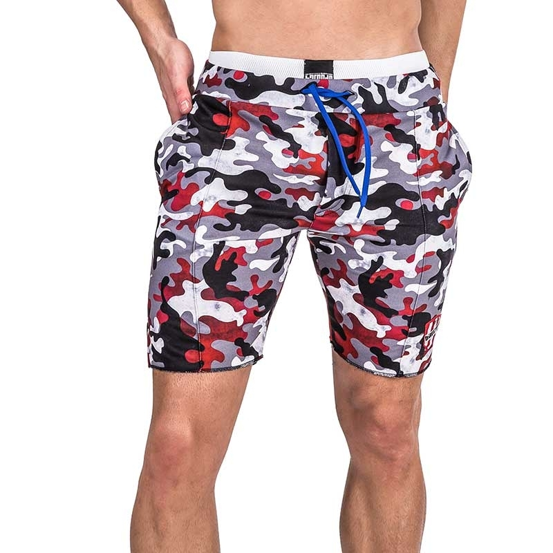 BARCODE Berlin SHORTS Athletik MY TOY camouflage 91329 boot camp51 muligrau