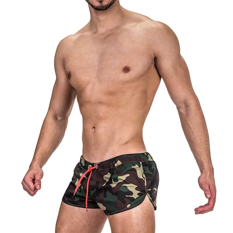 BARCODE Berlin SHORTS jungle 91316 camouflage in olive green