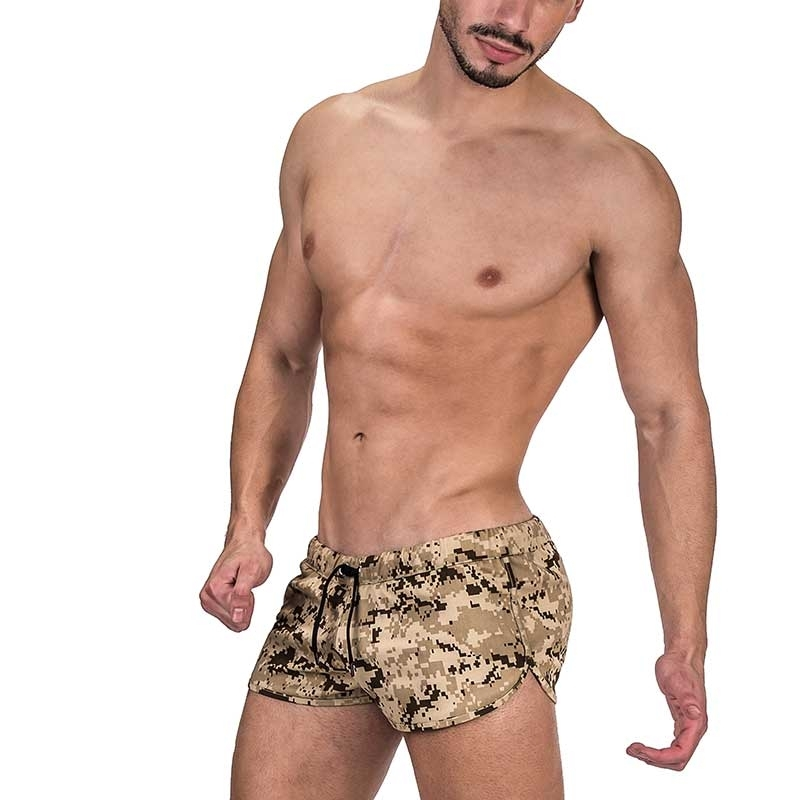BARCODE Berlin SHORTS Sandstorm 91316 camouflage in brown