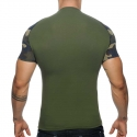 ADDICTED T-SHIRT AD460 mit camouflage Netz Arm