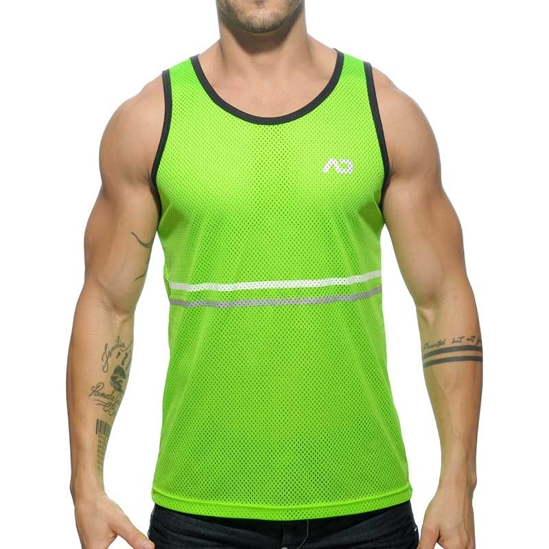 ADDICTED TANK TOP athletik PLATINUM DETAIL NETZ Sieger AD-483 Bodywear neon-green