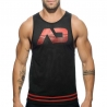 ADDICTED TANK TOP hot BASIC FETISCH Faust Netz AD-492 Club Wear black-red