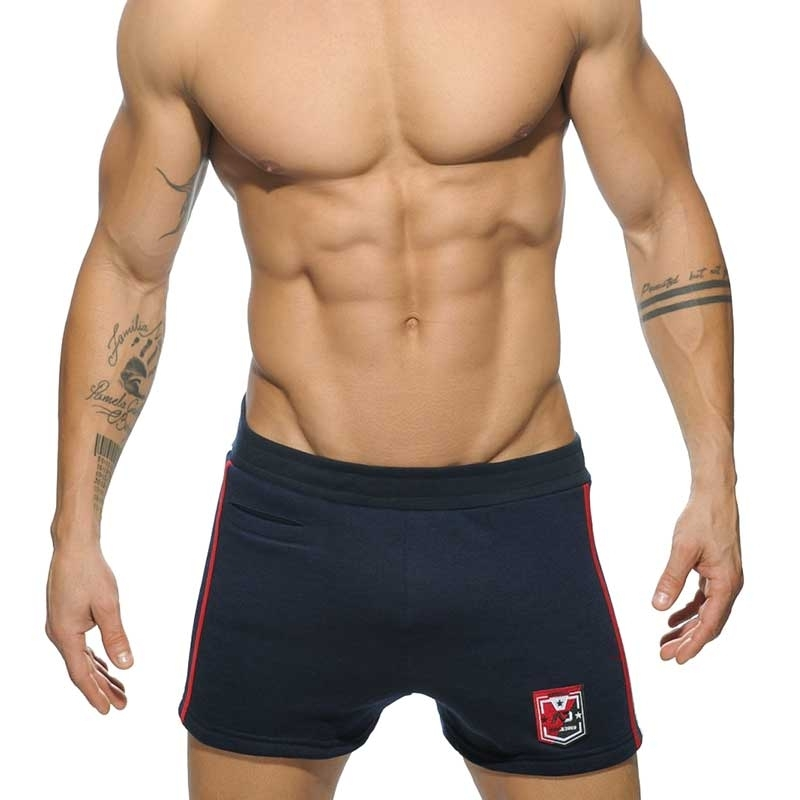 ADDICTED SHORTS comfort SPORT BADGE Gym Wear AD-508 Mainstream navy