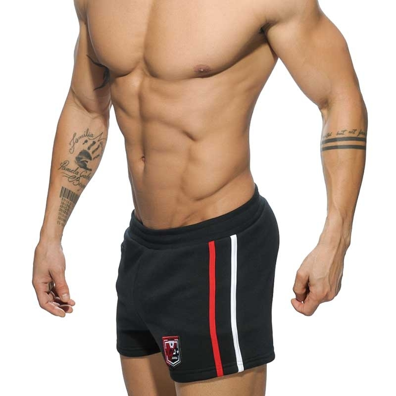 ADDICTED SHORTS comfort KRAFT SPORT BADGE Gym Wear AD-508 Mainstream black