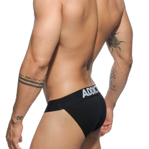 ADDICTED BRIEF hot Dark BIKINI CUT Workout AD-466 Club Wear black