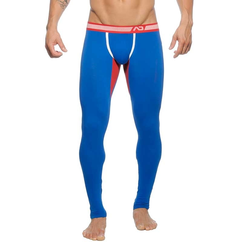 ADDICTED LEGGINGS athletik LONG JOHN Stark Bodywear AD-461 Club Style blue-red