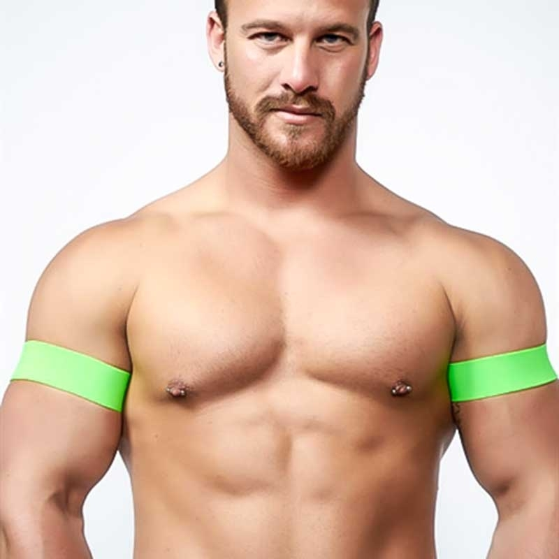 MISTER B HARNESS bizeps BAND neonClub 820500 URBAN fetisch neongreen