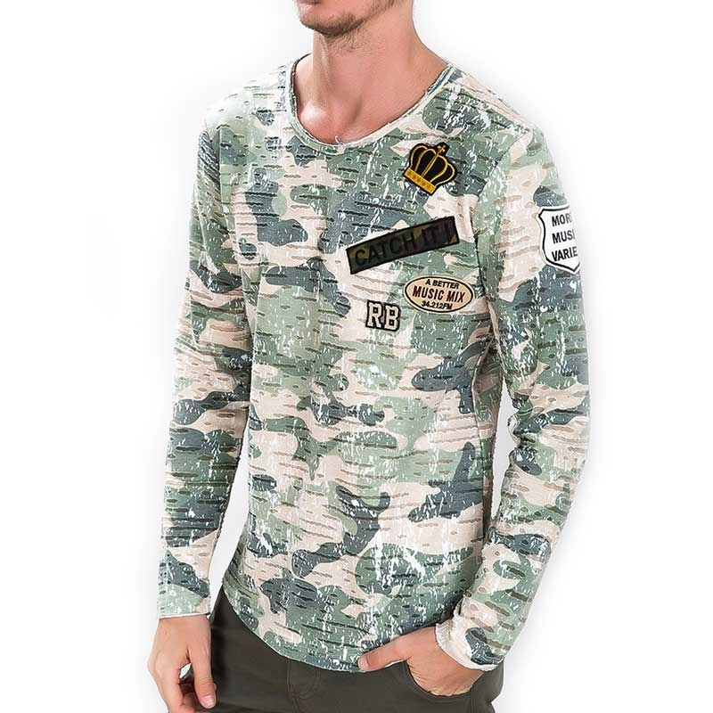 RED BRIDGE SWEATSHIRT regular CAMO KRONE Army M2080 Streetwear camouflage