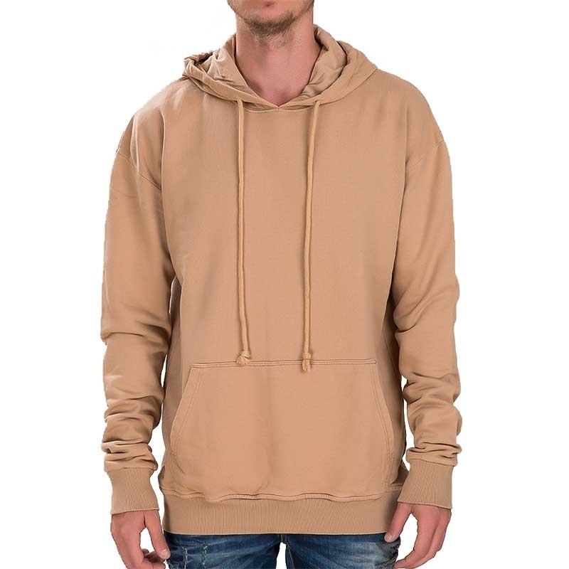 RED BRIDGE HOODIE regular BASIC SOMMER Kapuze M2074 Alltag Look brown