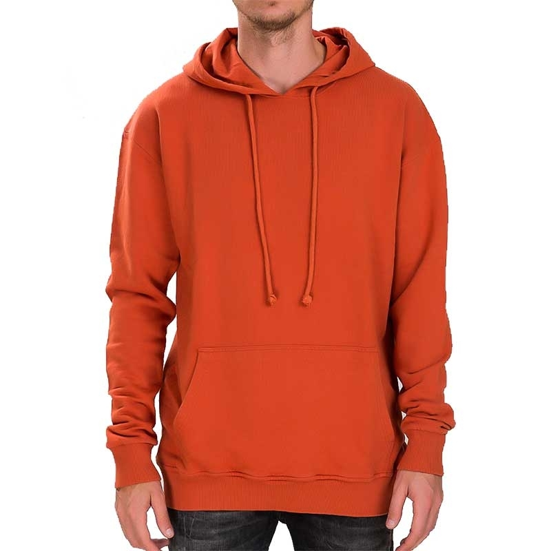 RED BRIDGE HOODIE regular BASIC SOMMER Kapuze M2074 Alltag Look orange