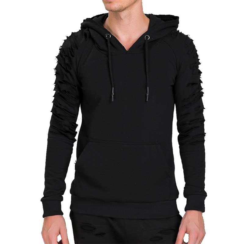 RED BRIDGE HOODIE modern Mode USED STYLE Kapuze M2078 Mainstream black