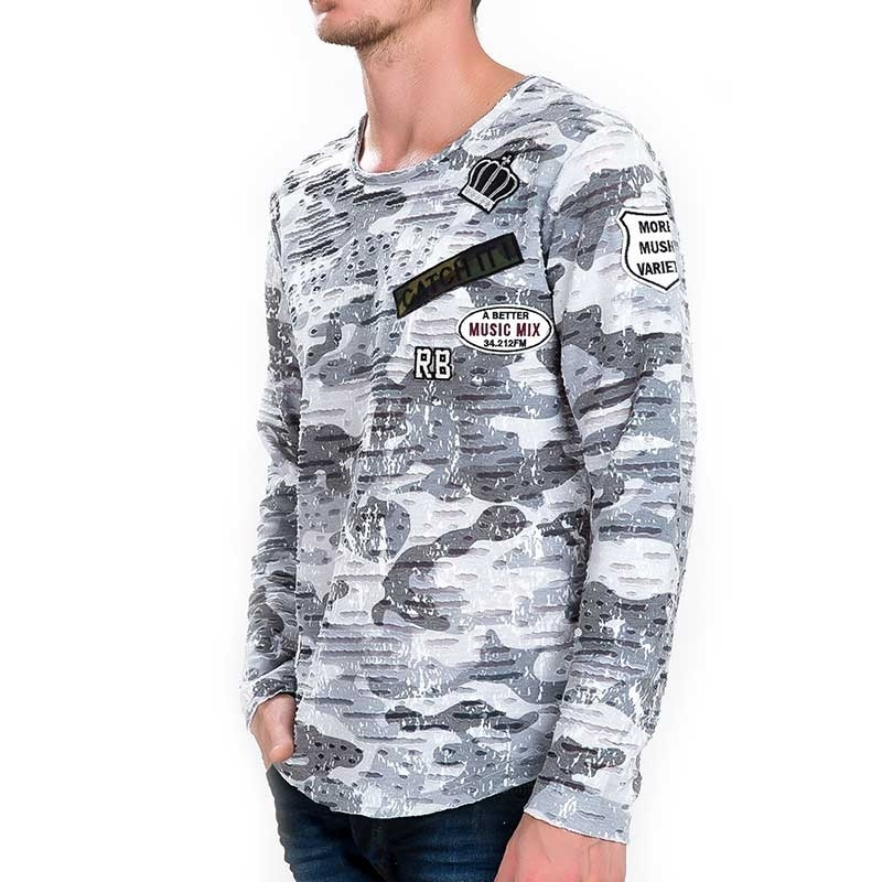 RED BRIDGE SWEATSHIRT regular CAMO KRONE Winter Army M2080 Streetwear camouflage