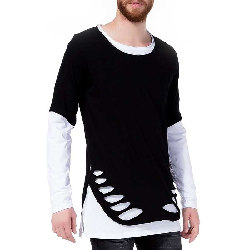RED BRIDGE SWEATSHIRT modern DOPPELT DESIGN XXL M2014 Hipster Look black-white