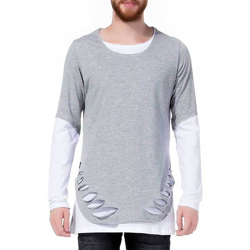 RED BRIDGE SWEATSHIRT modern DOPPELT DESIGN XXL M2014 Hipster Look grey-white