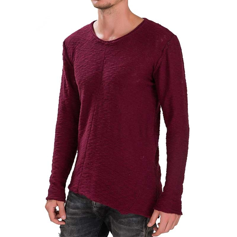 RED BRIDGE SWEATSHIRT modern VINTAGE GEORGE Hipster M3033 Used Look bordeaux