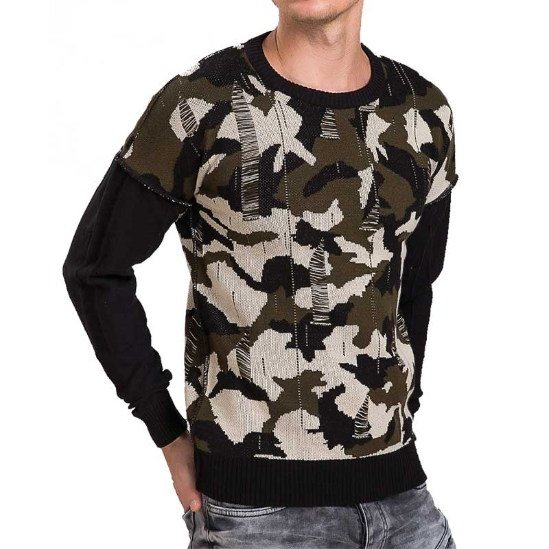 RED BRIDGE PULLOVER comfort ARMY SAISON Used Look M3032 Mainstream Sommer camouflage