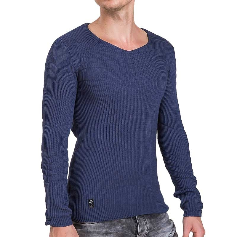 RED BRIDGE SWEATSHIRT modern ABEND MODE Rippen M3030 Comfort Wear indigo