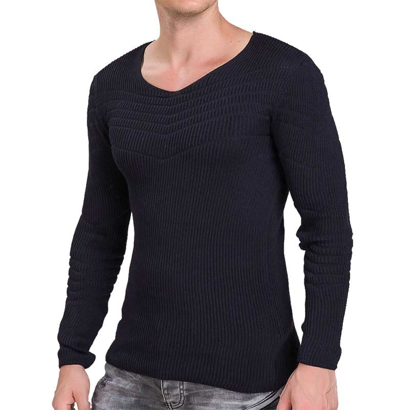 RED BRIDGE SWEATSHIRT modern ABEND MODE Rippen M3030 Comfort Wear dark blue