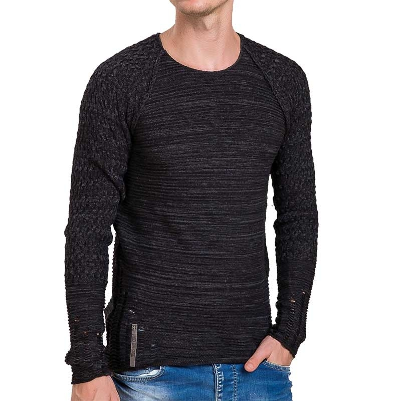 RED BRIDGE SWEATSHIRT modern GERISSEN LUCAS Used Look M3024 Mainstream black
