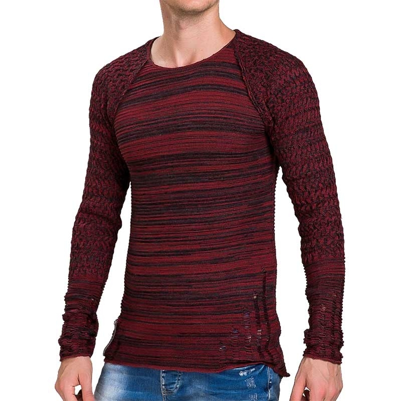 RED BRIDGE SWEATSHIRT modern GERISSEN LUCAS Used Look M3024 Mainstream bordeaux