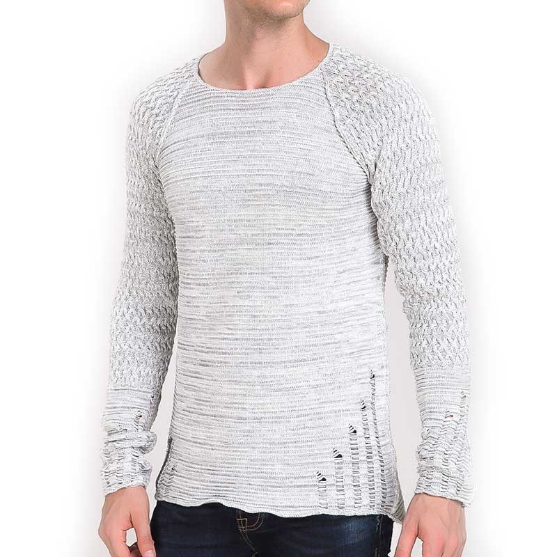 RED BRIDGE SWEATSHIRT modern GERISSEN LUCAS Used Look M3024 Mainstream light grey
