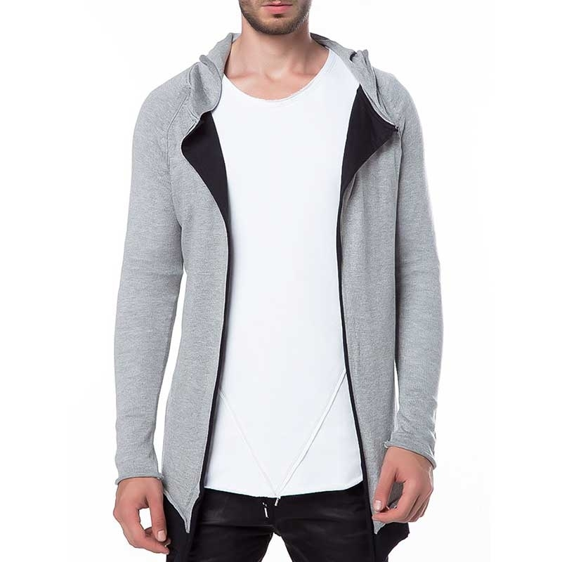 RED BRIDGE SWEATJACKE modern SOMMER ABEND Kapuze M3602 Streetwear grey