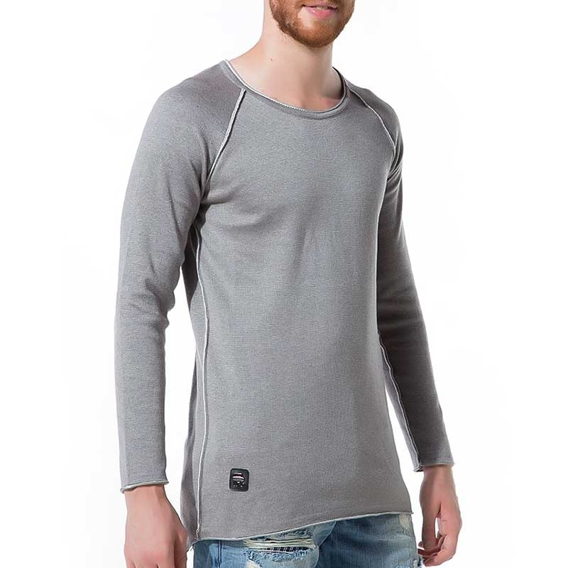 RED BRIDGE SWEATSHIRT regular BASIC ZIERNAHT Alltag M3010 Home Wear grey