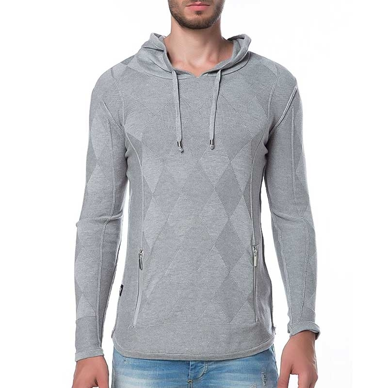 RED BRIDGE HOODIE regular RELAX ARGYLE Kapuze M3007 Street Wear grey