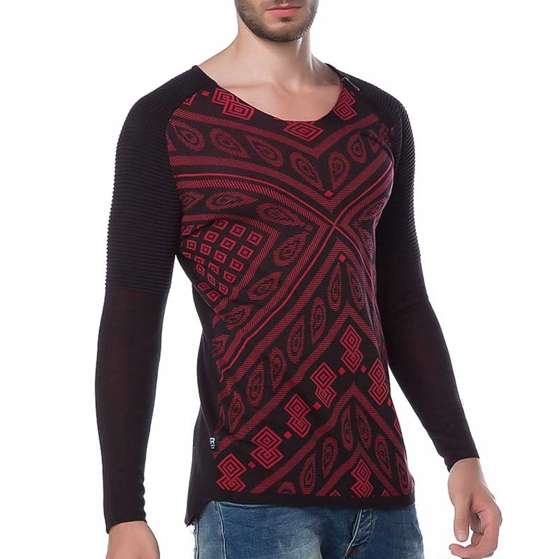 RED BRIDGE SWEATSHIRT modern PRINT MODE Rippen M3005 Mainstream red