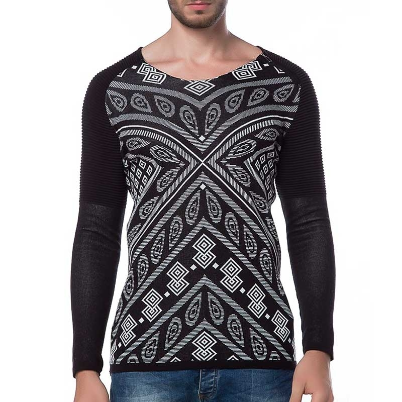 RED BRIDGE SWEATSHIRT modern PRINT MODE Rippen M3005 Mainstream black