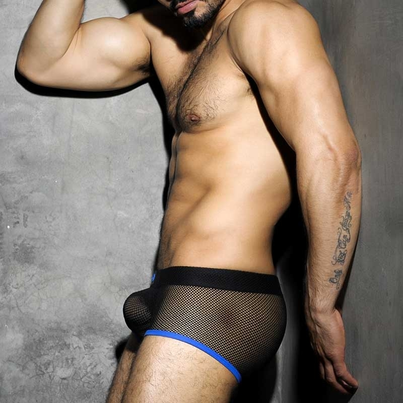 AD-FETISH BOXER hot CLUB MESH Fetish Play look ADF03 Darkroom Wear blue