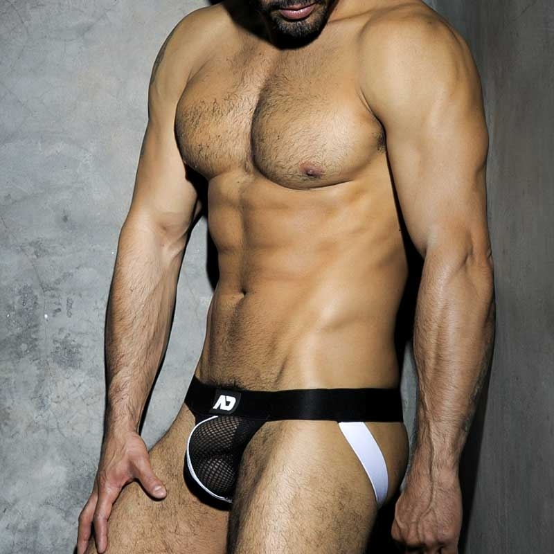 ADDICTED JOCK hot CLUB NETZ Stark ADF05 Fetisch Wear white-black