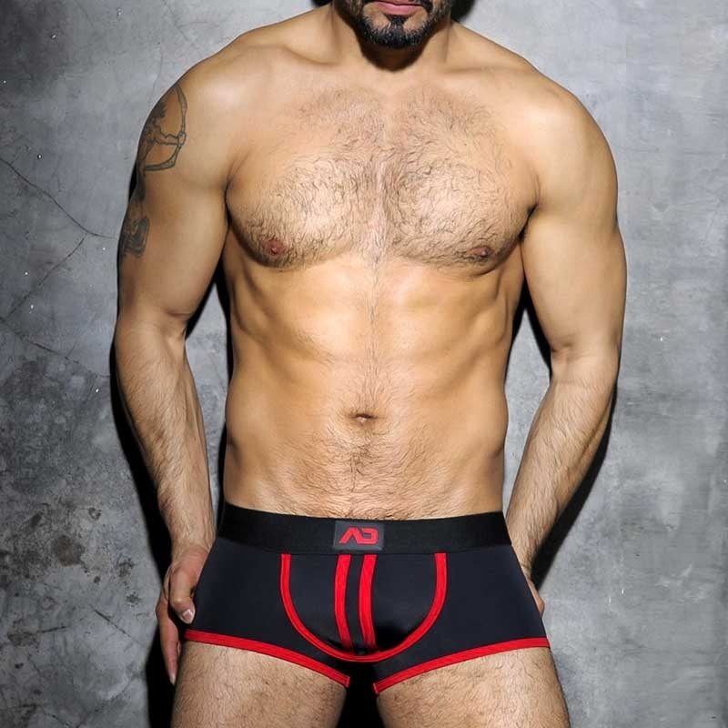 AD-FETISH PANTS hot BACKLESS BOXER Faust Club ADF12 Fetisch Wear red-black