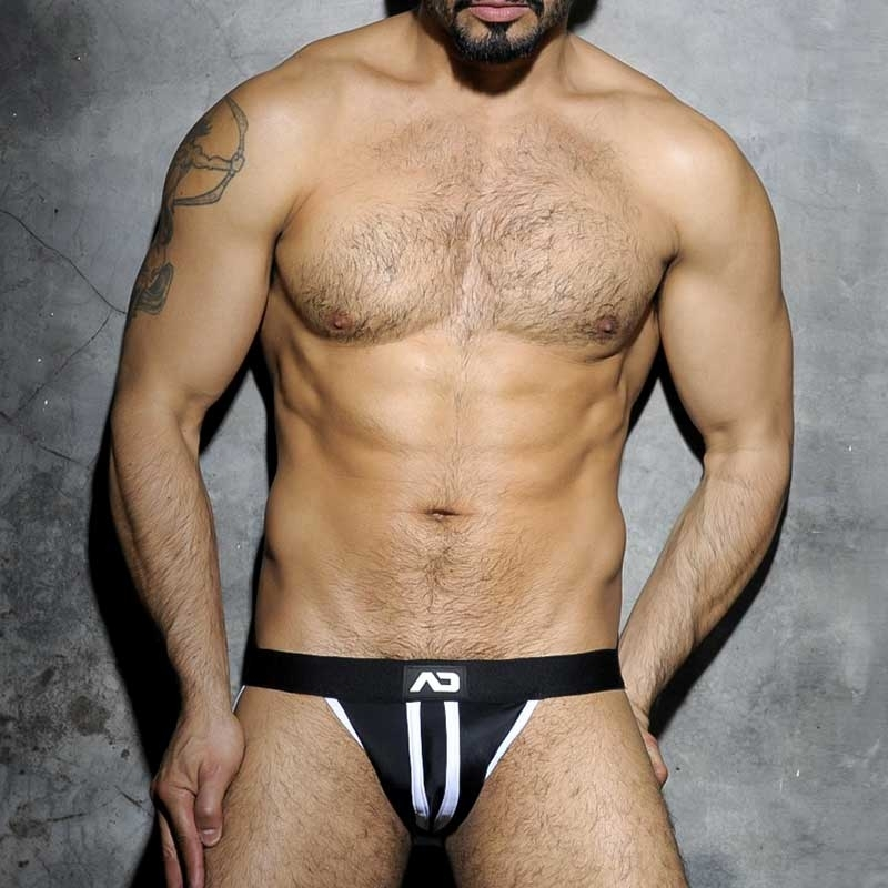 ADDICTED JOCK hot FETISCH STRIP TRON Sport ADF13 Club Wear white-black