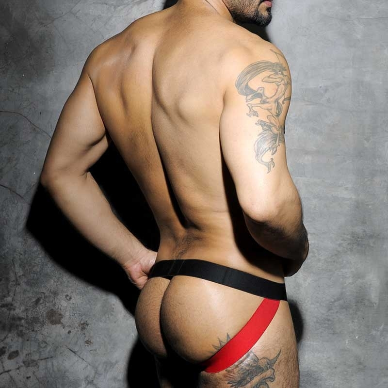 AD-FETISH JOCKstrap hot Fist FETISH STRIP TRON Sport ADF13 Club Wear red-black