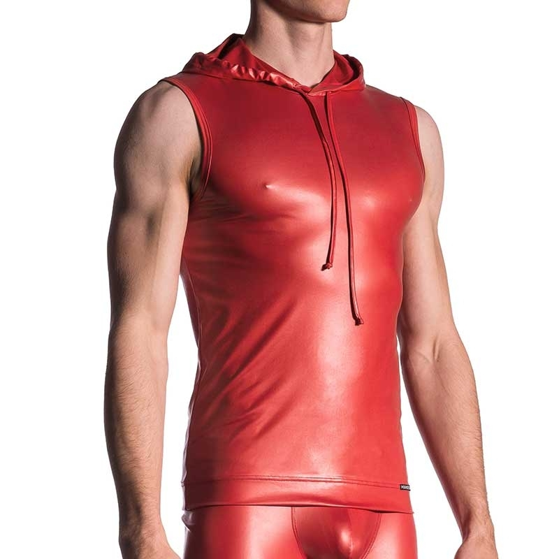 MANSTORE TANK Top hot SPORT TABASCO Wet Kapuze M510 Club Wear red