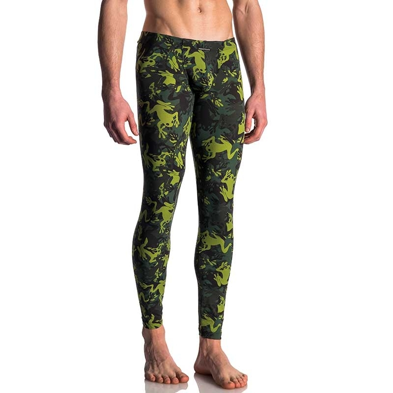 MANSTORE PANTS hot PRINT LEGGINGS Frosch M615 Club Wear green