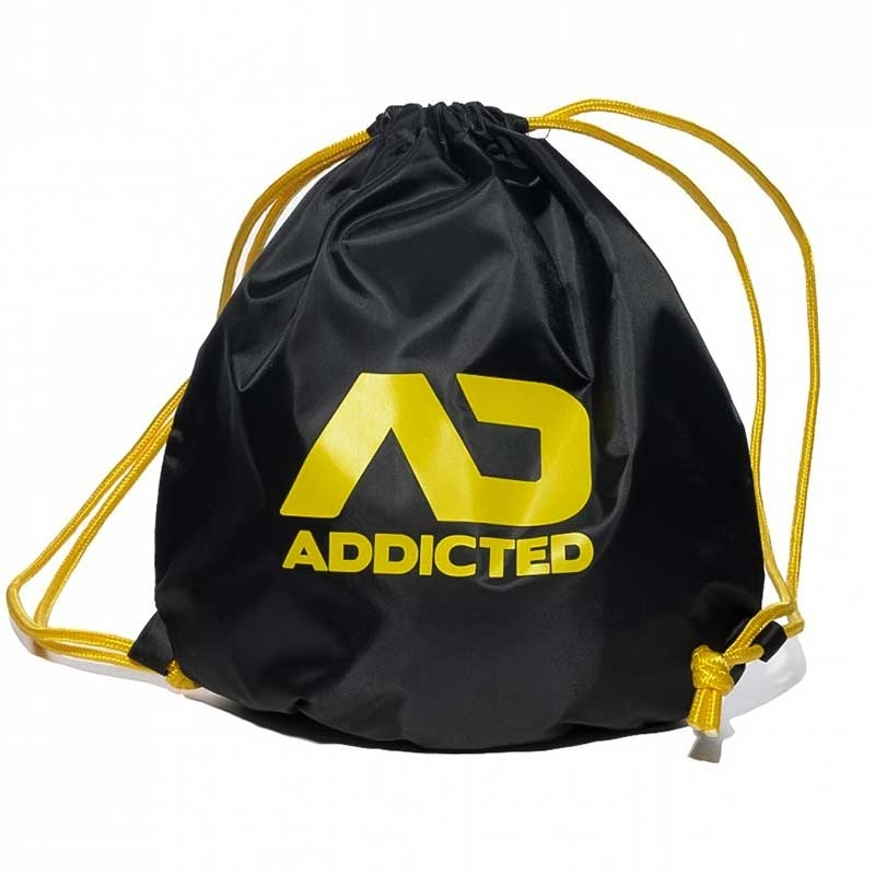 ADDICTED BACKPACK regular SWIM + GYM Drawstring Bag AD451 Beach black-yellow