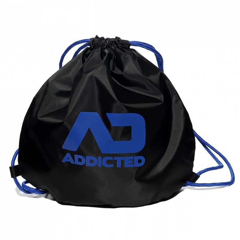 ADDICTED BACKPACK regular SWIM + GYM Kordel Tasche AD451 Strand black-blue