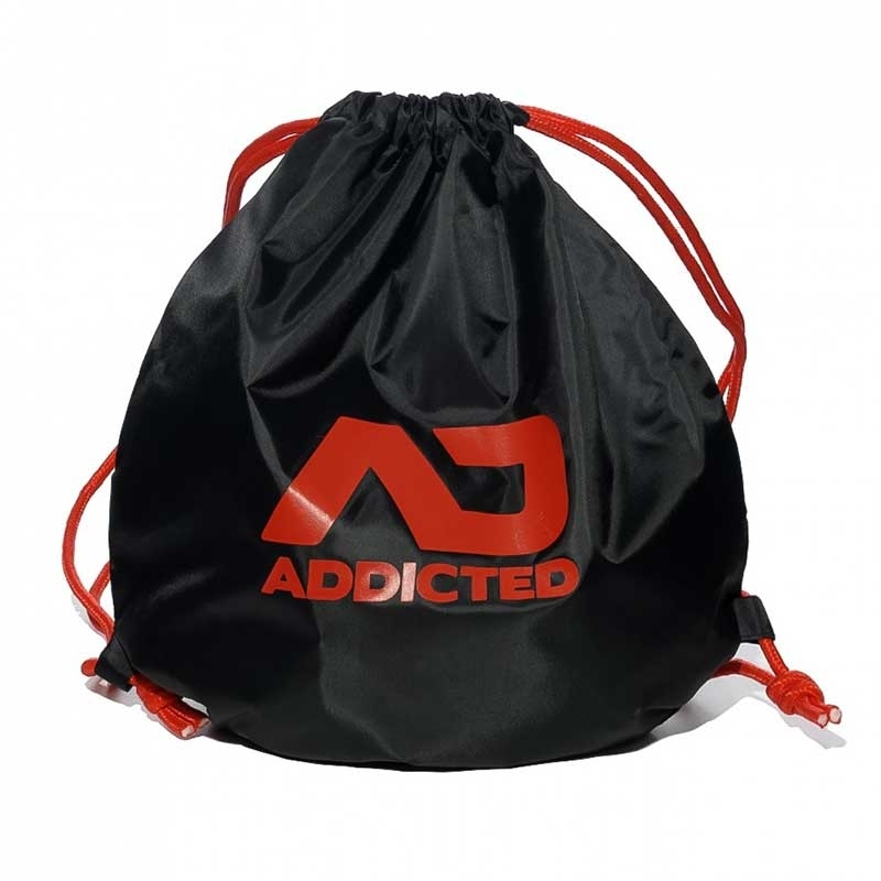 ADDICTED BACKPACK regular SWIM + GYM Kordel Tasche AD451 Strand black-red