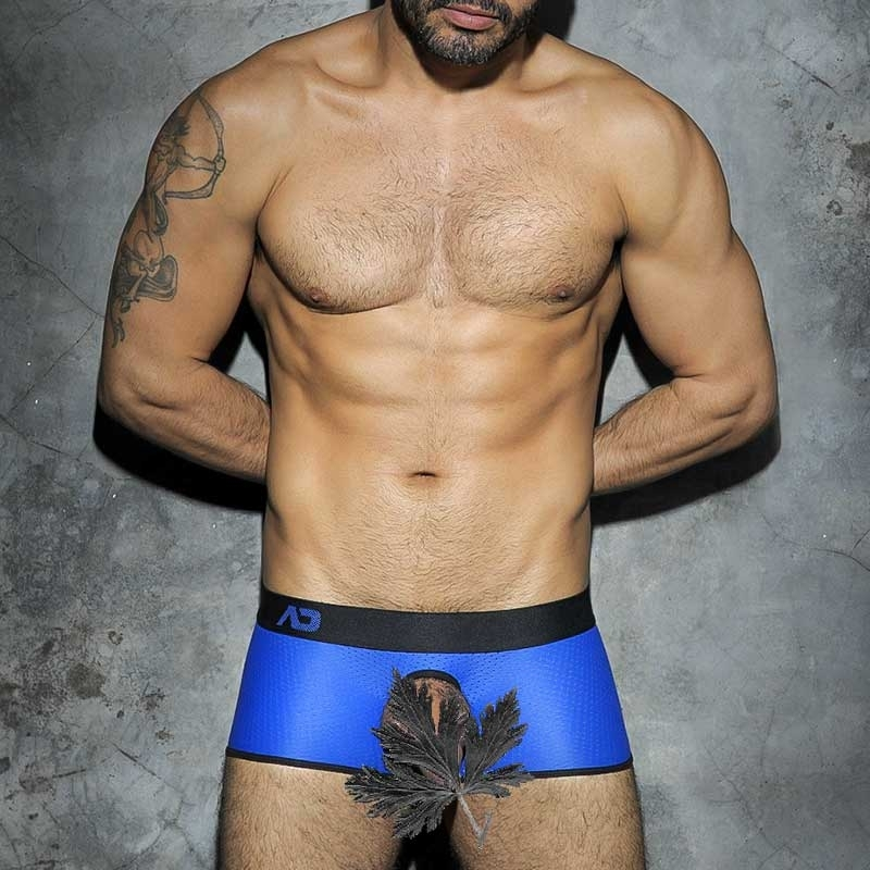ADDICTED PANT hot COCKRING NETZ Backless Spiel Jock ADF07 Fetisch Wear blue-black