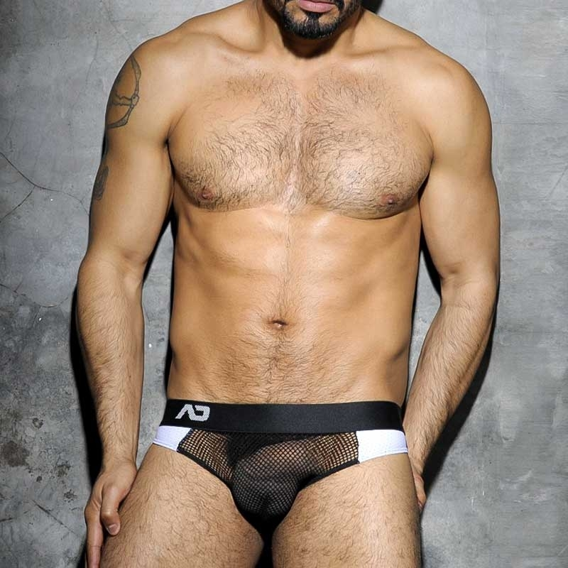 ADDICTED JOCK hot CODE NETZ Sport ADF15 Fetisch Wear white-black