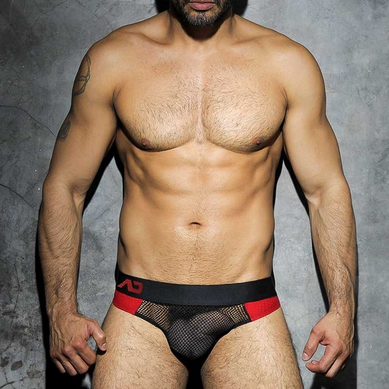 ADDICTED JOCK hot CODE NETZ S&M Spiel ADF15 Fetisch Wear red-black